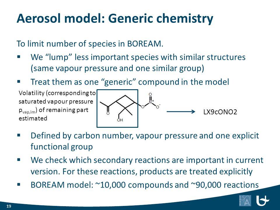 Aerosol model: Generic chemistry
