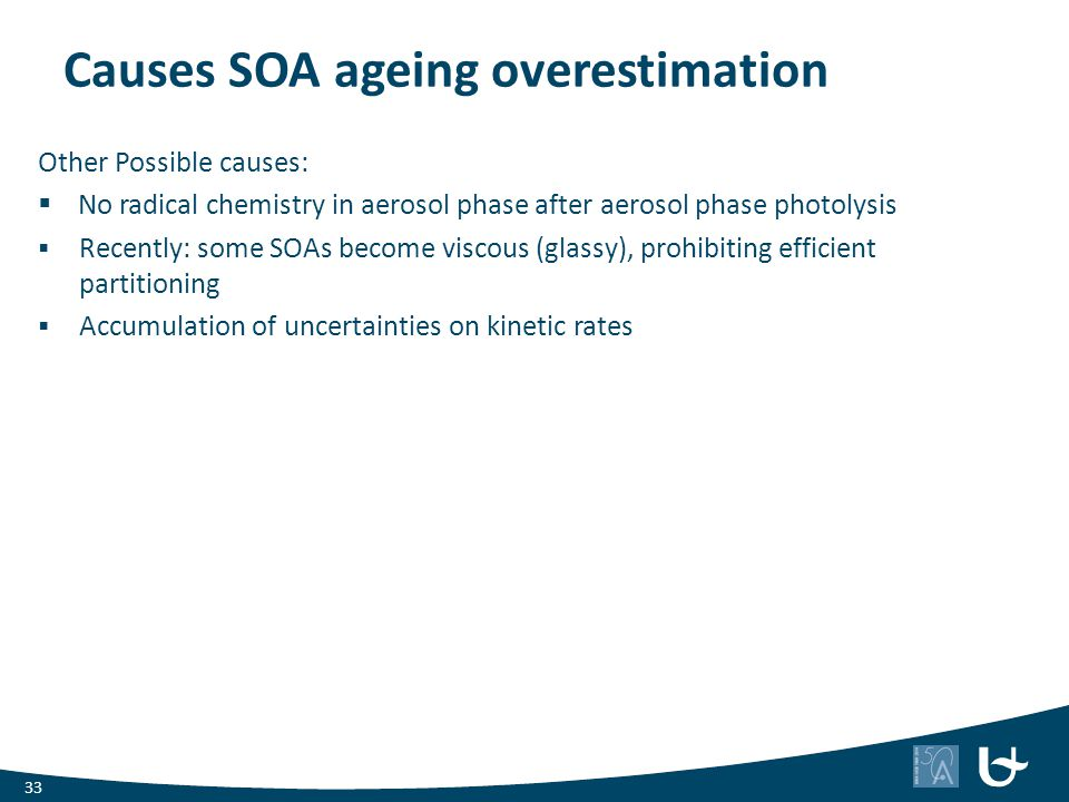 Causes SOA ageing overestimation