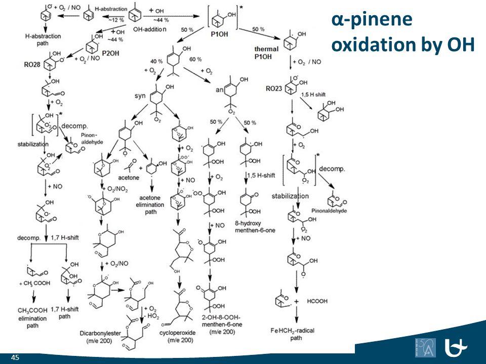 α-pinene oxidation by OH
