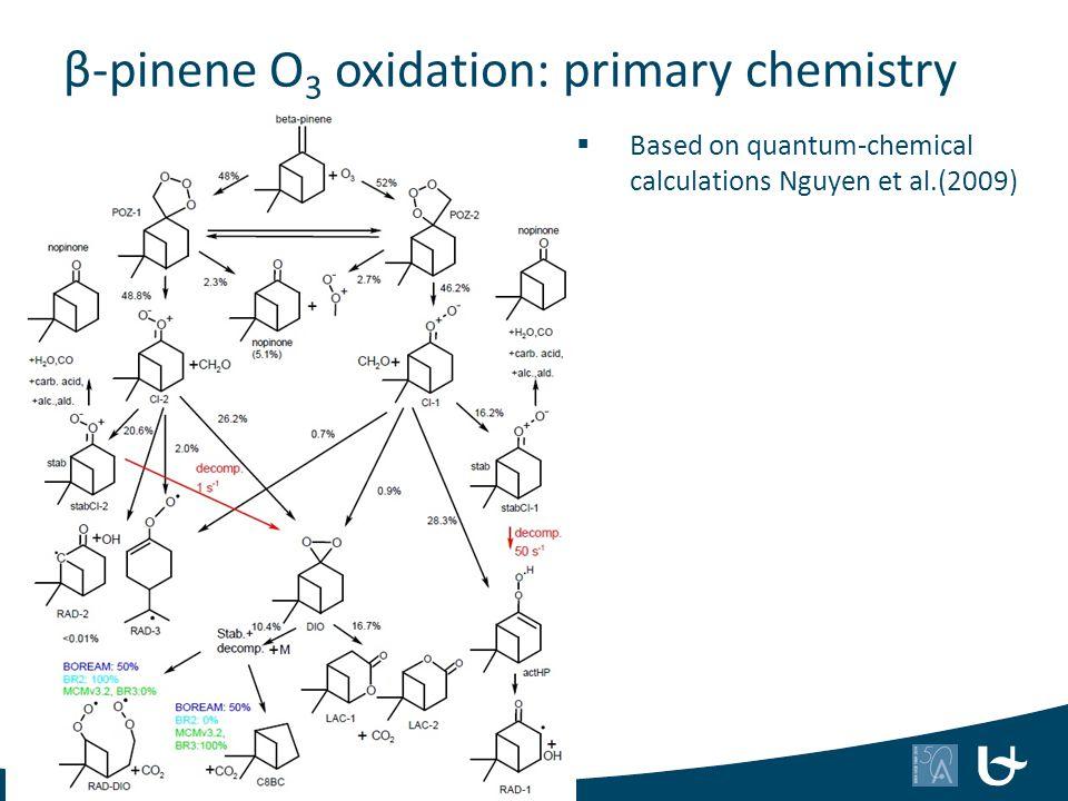 β-pinene O3 oxidation: primary chemistry