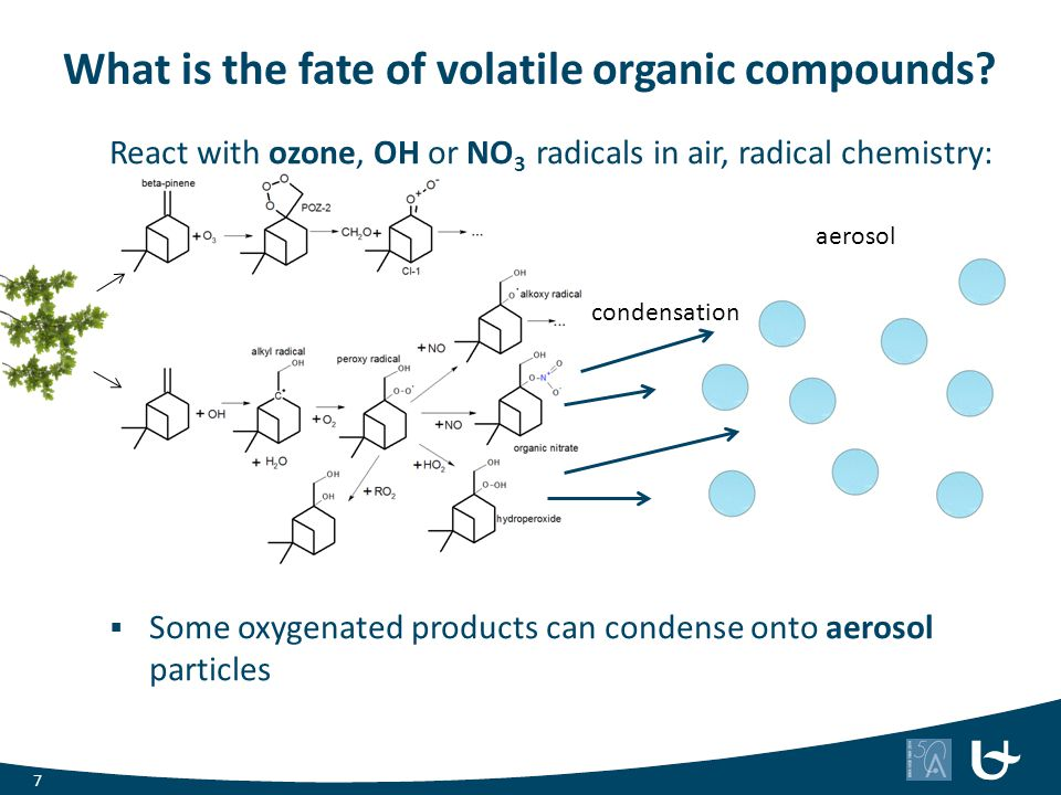 What is the fate of volatile organic compounds
