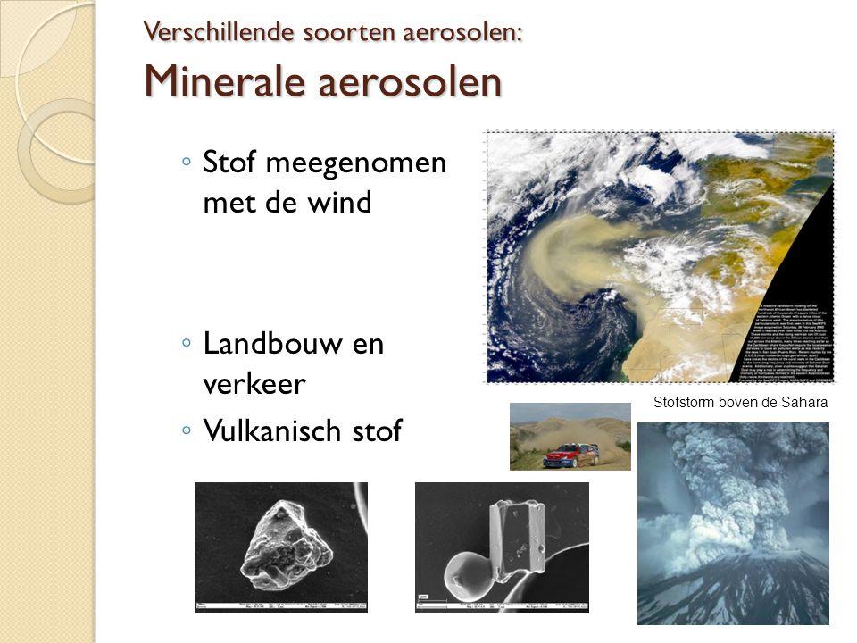 Verschillende soorten aerosolen: Minerale aerosolen