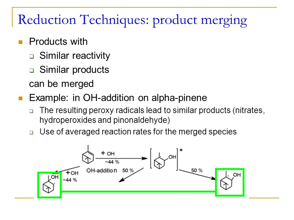 Reduction Techniques: product merging