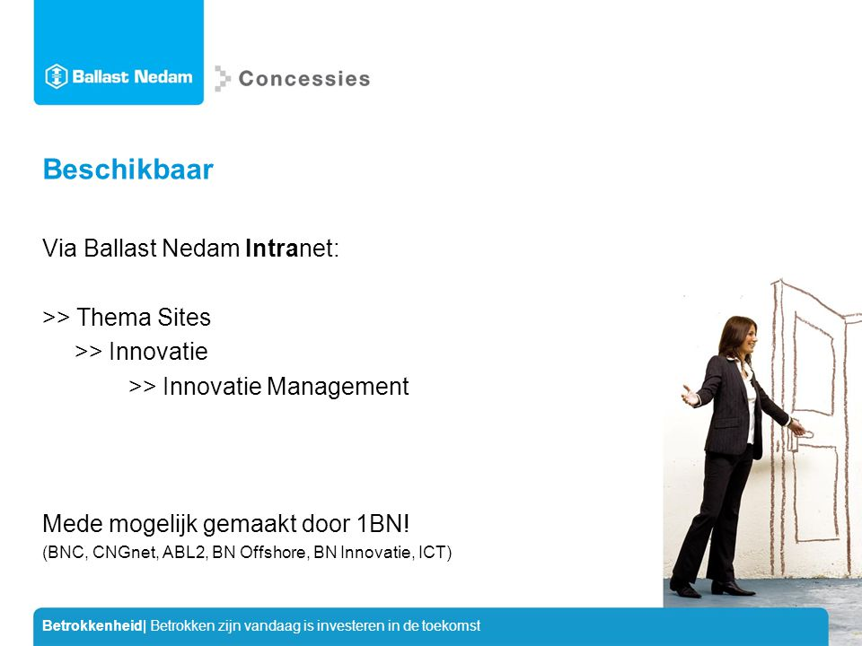Beschikbaar Via Ballast Nedam Intranet: >> Thema Sites