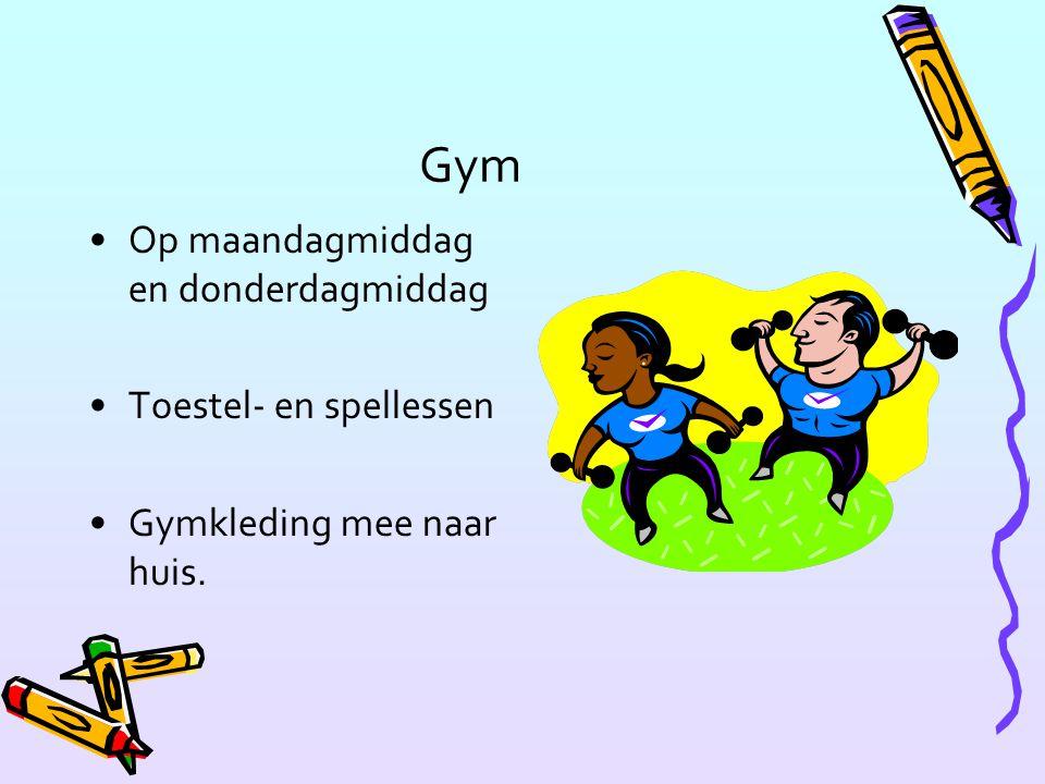 Gym Op maandagmiddag en donderdagmiddag Toestel- en spellessen