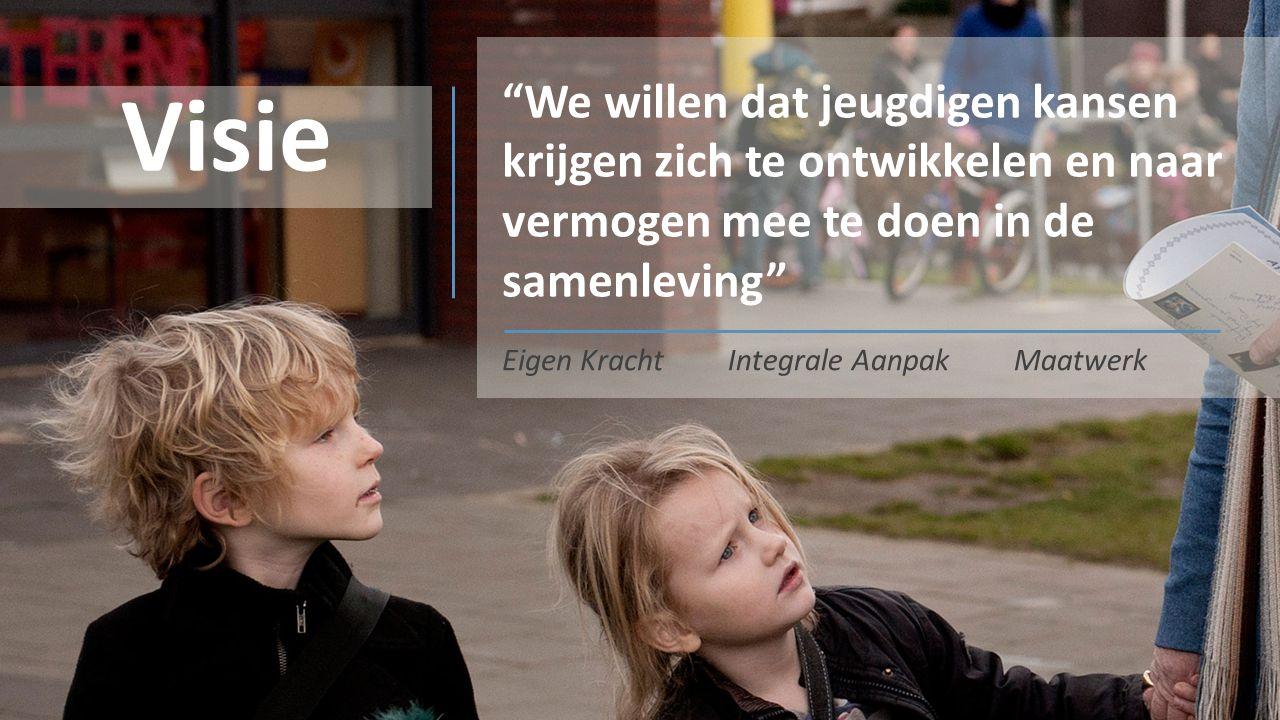 Visie We willen dat jeugdigen kansen krijgen zich te ontwikkelen en naar vermogen mee te doen in de samenleving