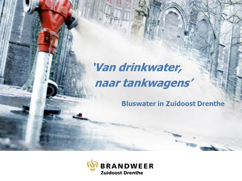'Van drinkwater, naar tankwagens' Bluswater in Zuidoost Drenthe