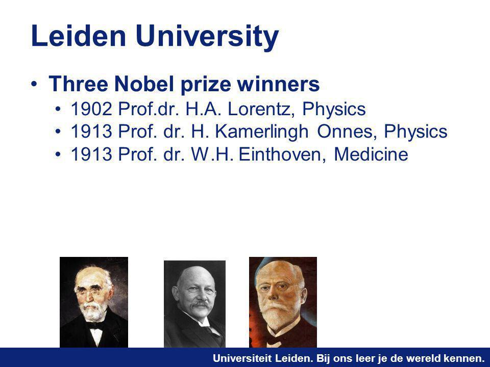 Leiden University Three Nobel prize winners