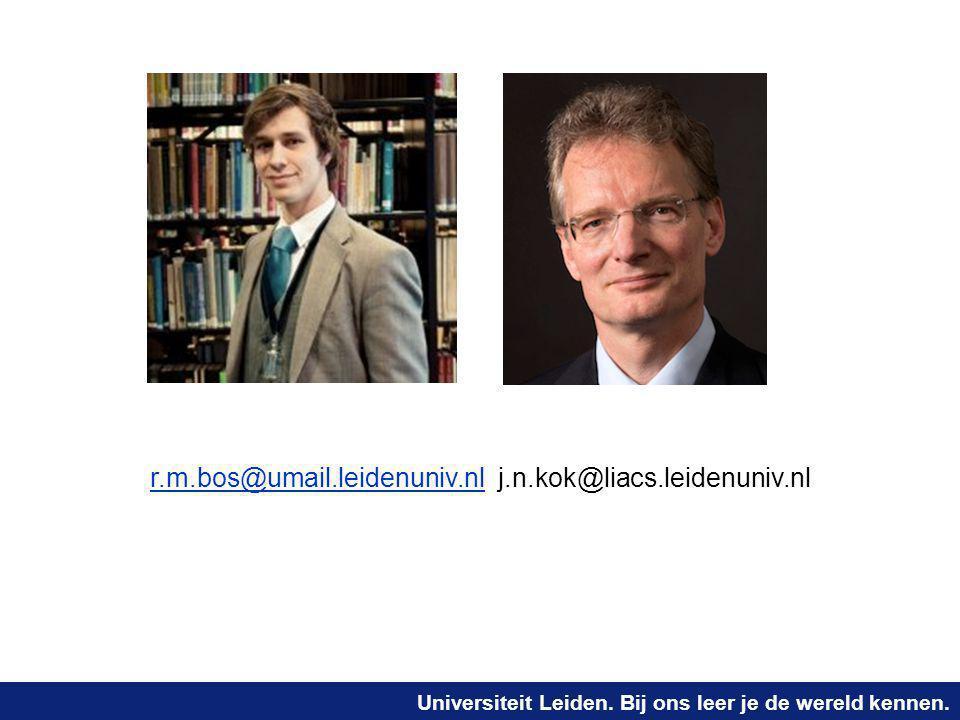 r.m.bos@umail.leidenuniv.nl j.n.kok@liacs.leidenuniv.nl