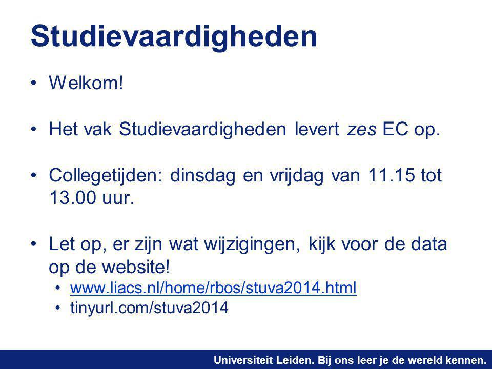 Studievaardigheden Welkom!
