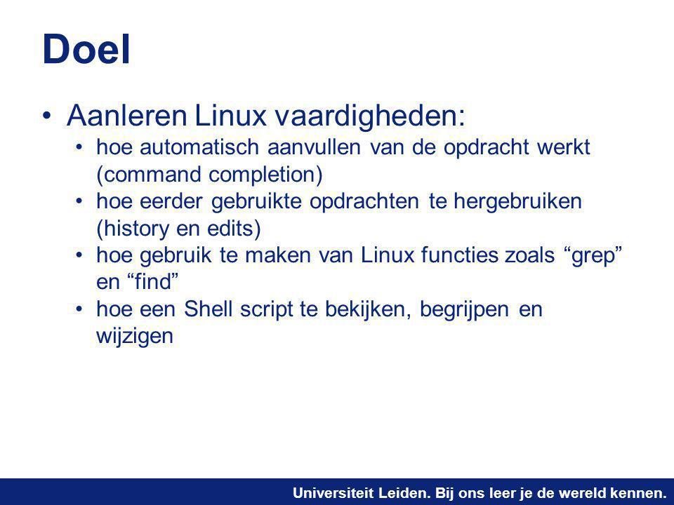 Doel Aanleren Linux vaardigheden: