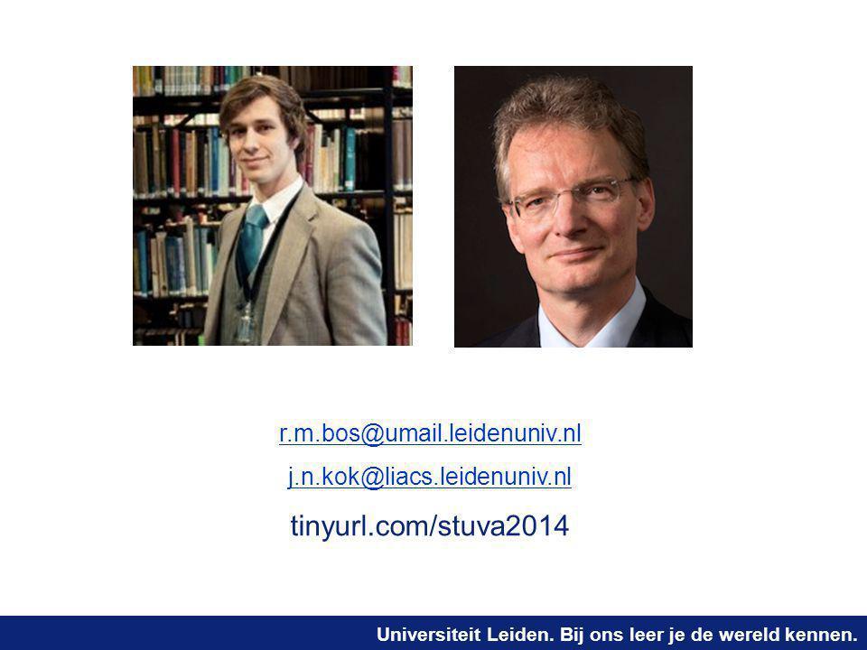 tinyurl.com/stuva2014 r.m.bos@umail.leidenuniv.nl