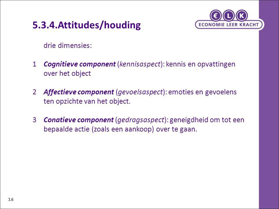 5.3.4.Attitudes/houding drie dimensies: