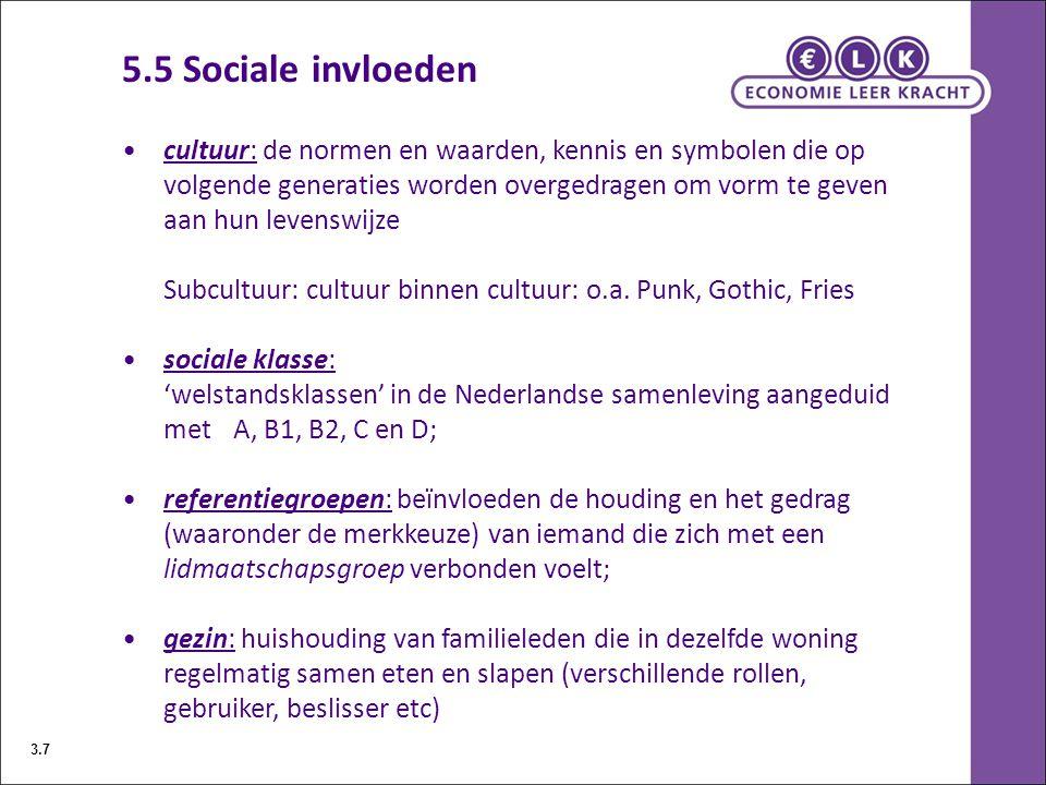5.5 Sociale invloeden