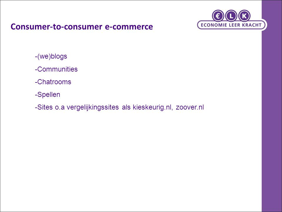 Consumer-to-consumer e-commerce