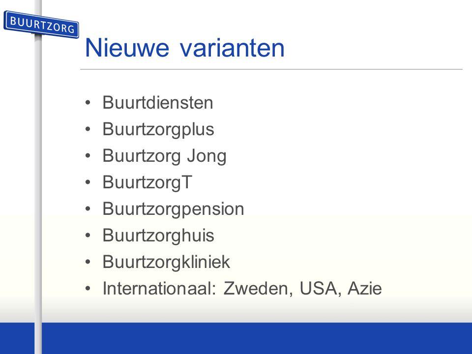 Nieuwe varianten Buurtdiensten Buurtzorgplus Buurtzorg Jong BuurtzorgT