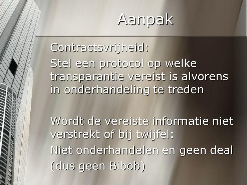 Aanpak Contractsvrijheid: