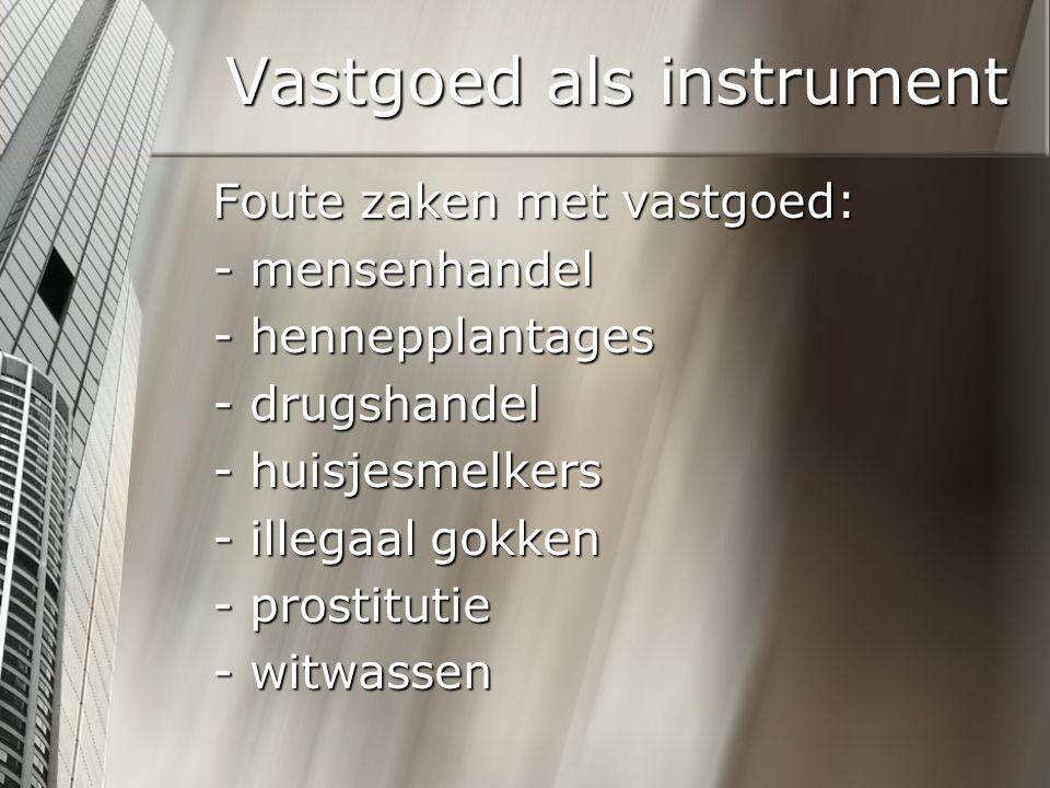 Vastgoed als instrument