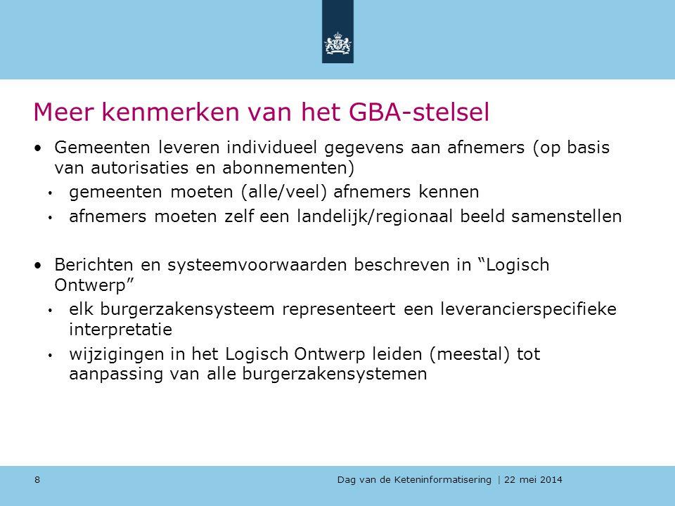 Meer kenmerken van het GBA-stelsel