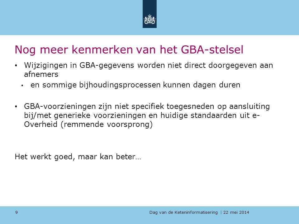 Nog meer kenmerken van het GBA-stelsel