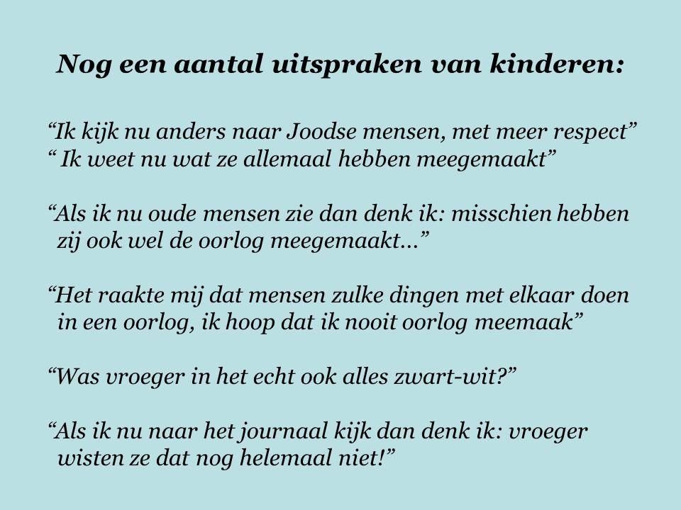 Nog een aantal uitspraken van kinderen: