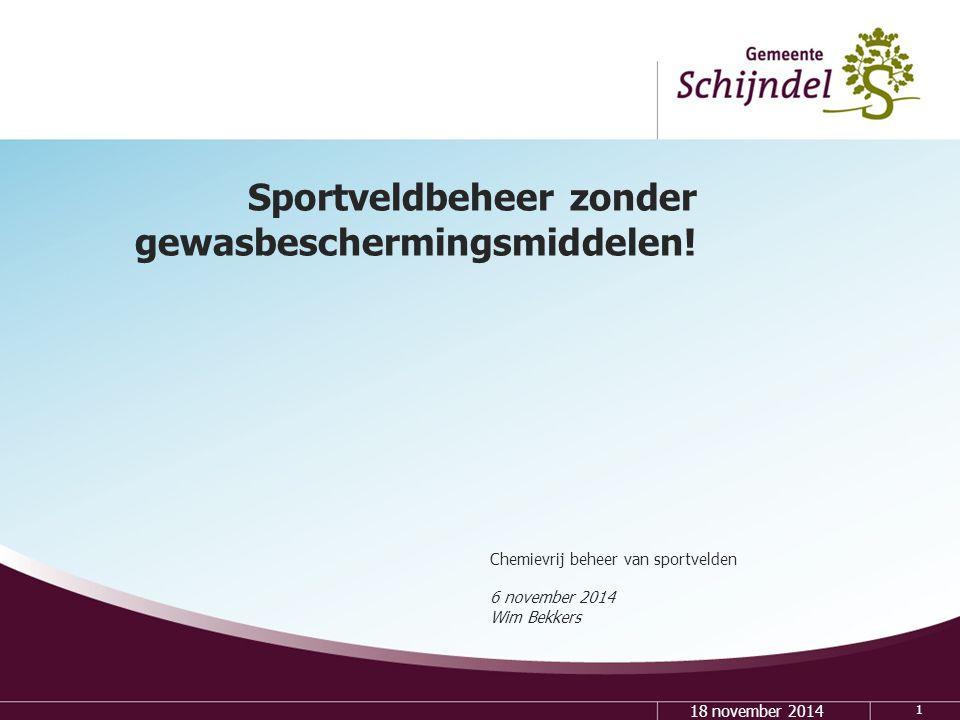 Sportveldbeheer zonder gewasbeschermingsmiddelen!