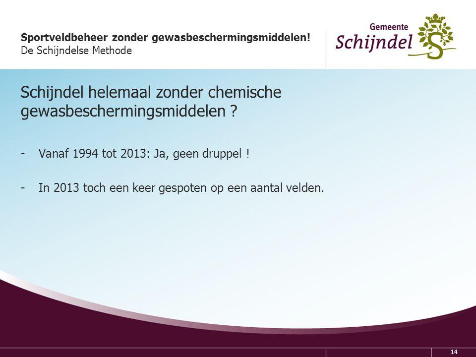 Schijndel helemaal zonder chemische gewasbeschermingsmiddelen