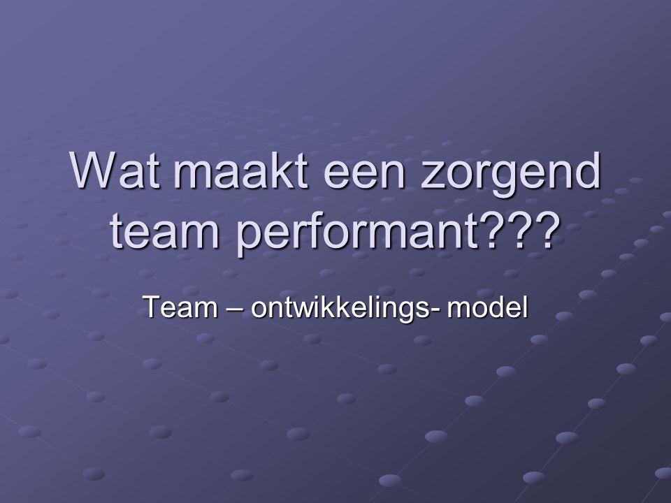Wat maakt een zorgend team performant