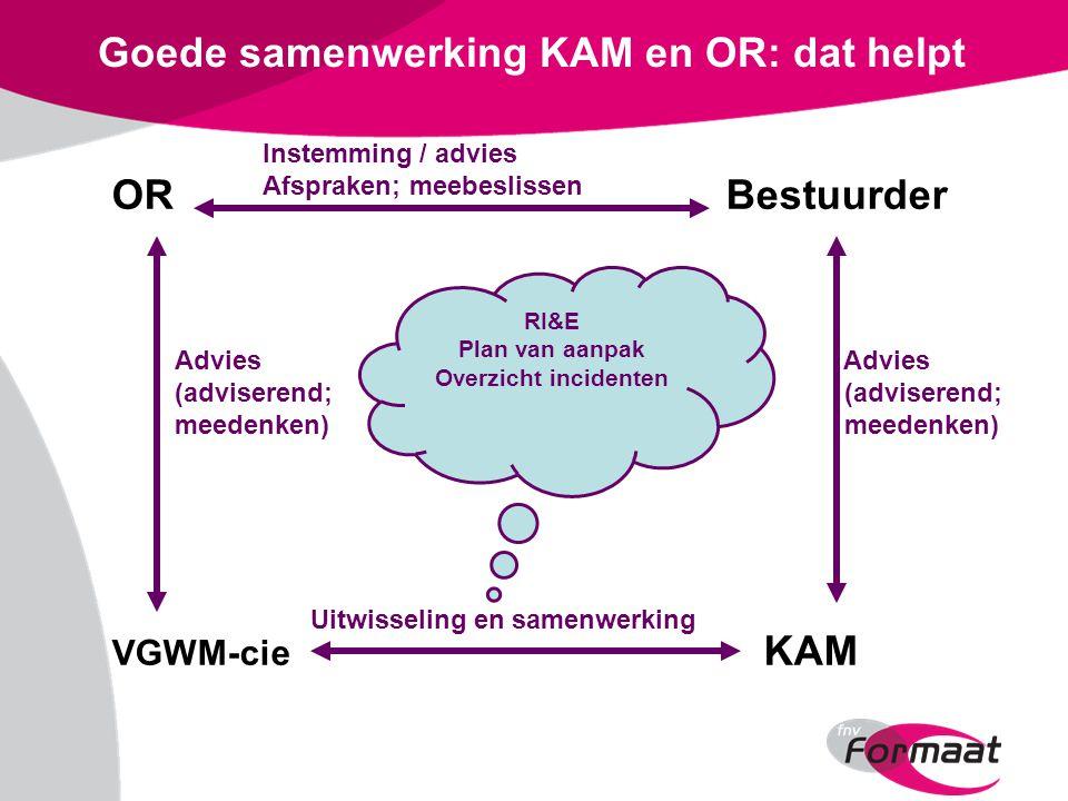 Goede samenwerking KAM en OR: dat helpt