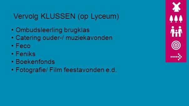 Vervolg KLUSSEN (op Lyceum)
