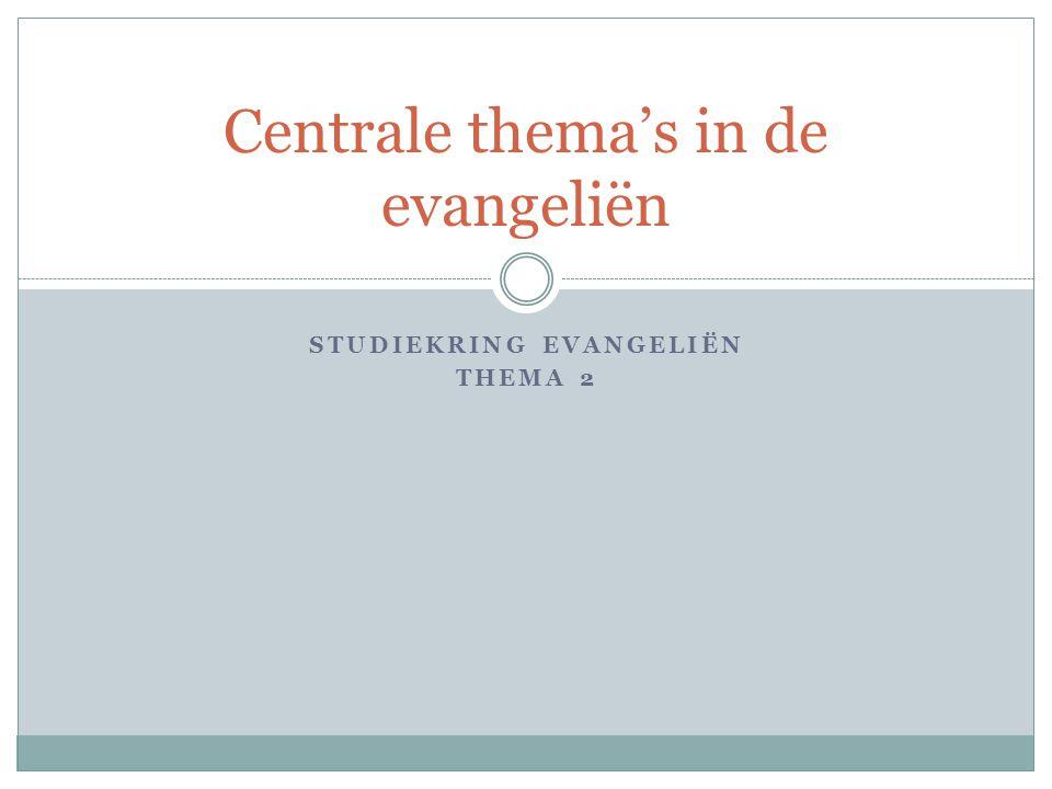 Centrale thema's in de evangeliën