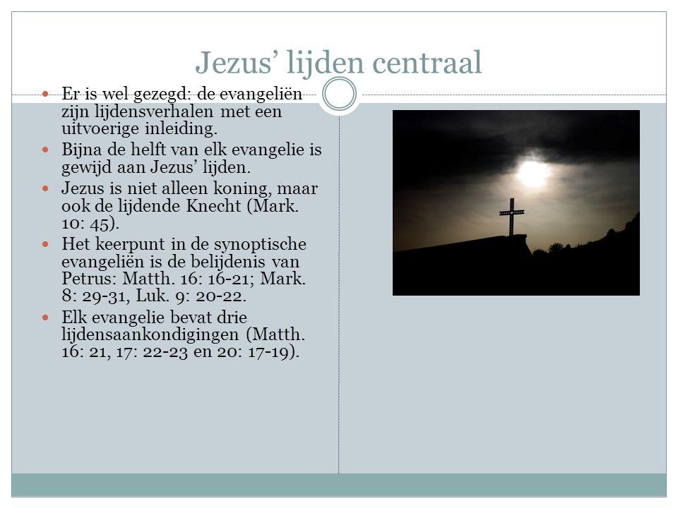 Jezus' lijden centraal