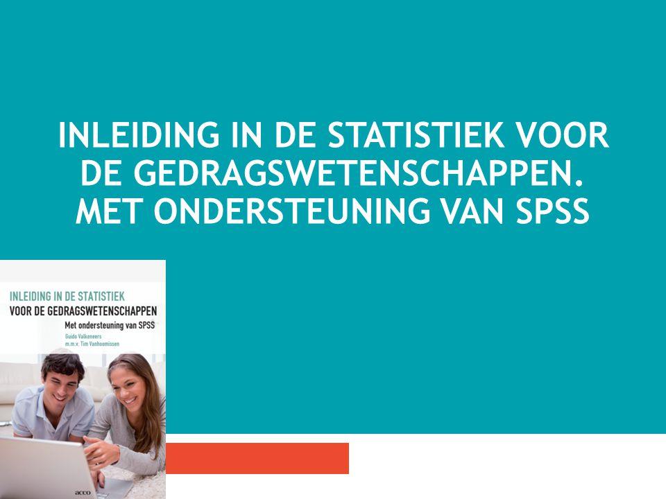 Inleiding in de statistiek voor de gedragswetenschappen
