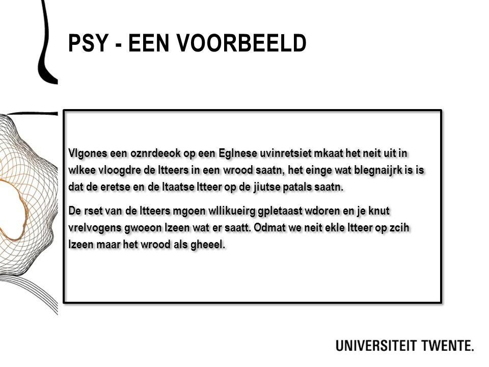 Psy - Een voorbeeld