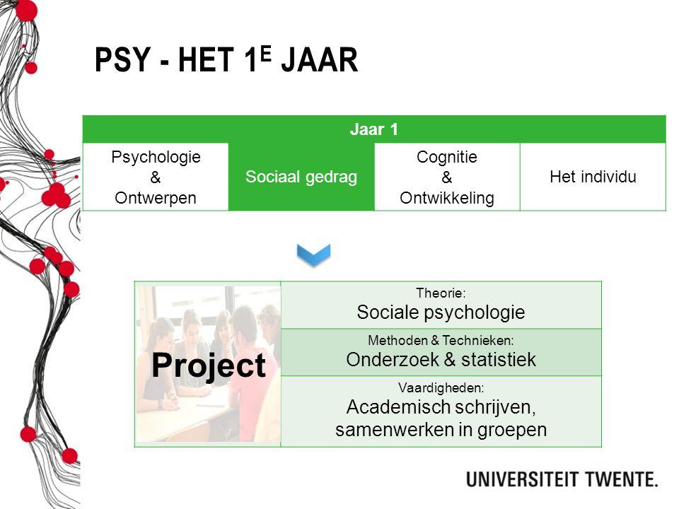 PSY - Het 1e jaar Project Sociale psychologie Onderzoek & statistiek