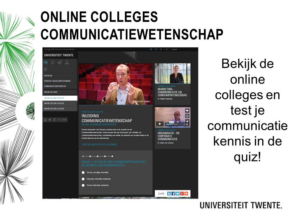 Online colleges communicatiewetenschap