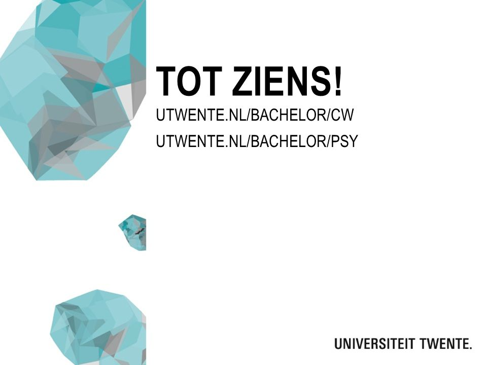 Utwente.nl/bachelor/CW Utwente.nl/bachelor/psy