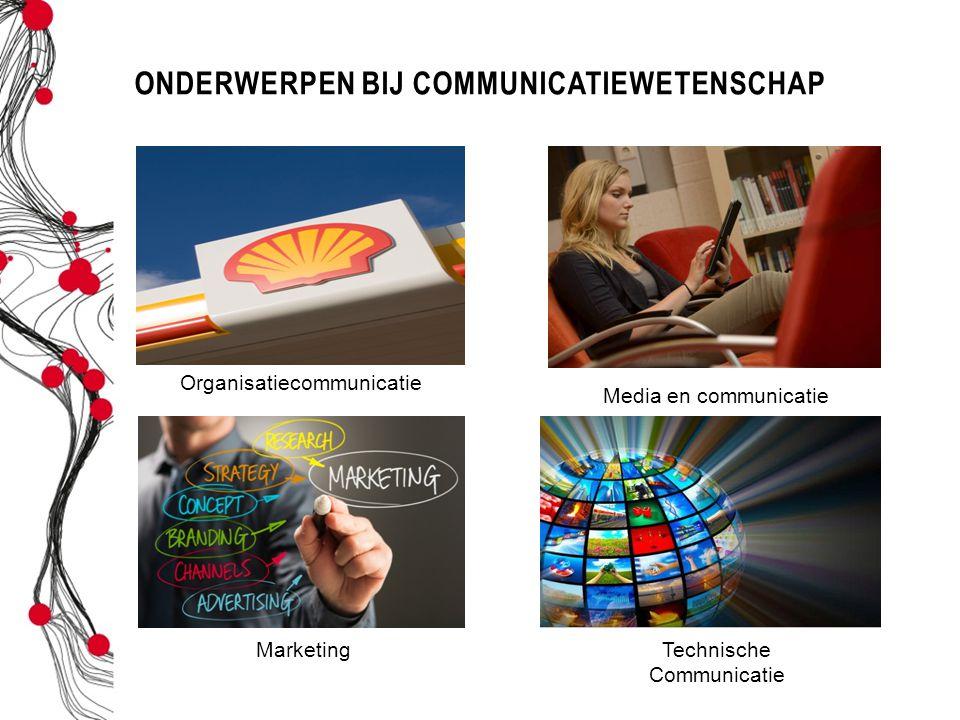 Onderwerpen bij communicatiewetenschap