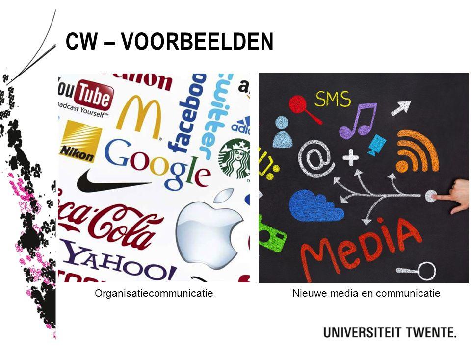 Cw – voorbeelden Organisatiecommunicatie Nieuwe media en communicatie