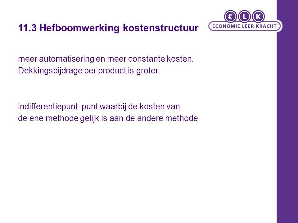 11.3 Hefboomwerking kostenstructuur