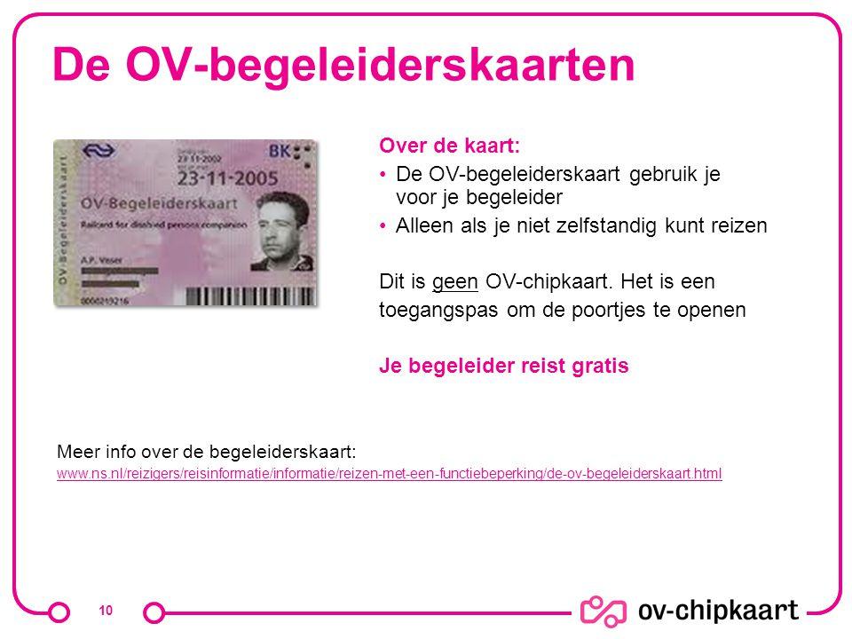 De OV-begeleiderskaarten