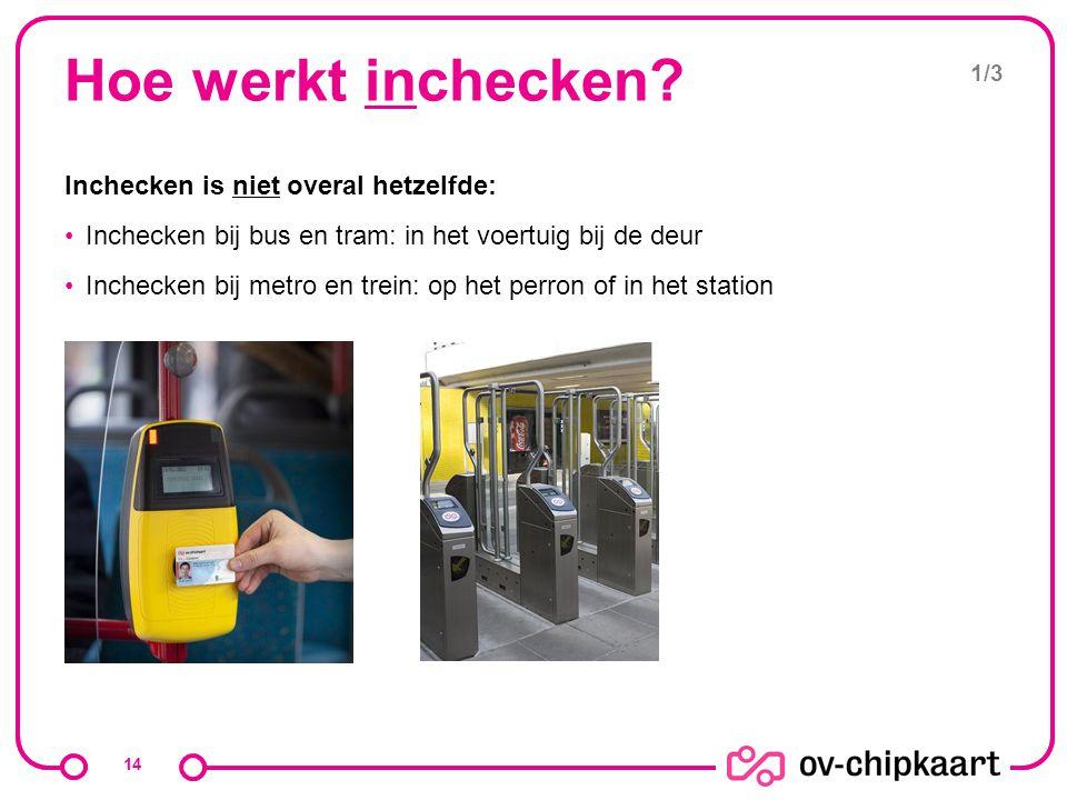 Hoe werkt inchecken Inchecken is niet overal hetzelfde: