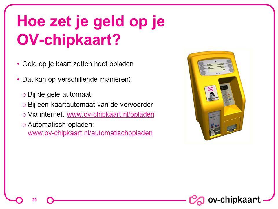 Hoe zet je geld op je OV-chipkaart