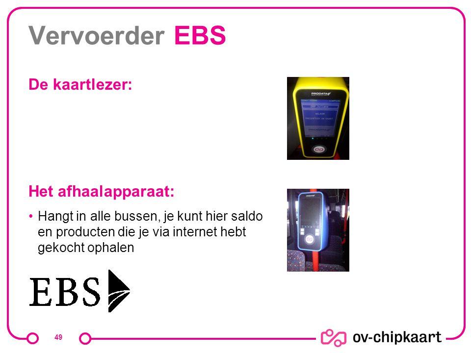 Vervoerder EBS De kaartlezer: Het afhaalapparaat: