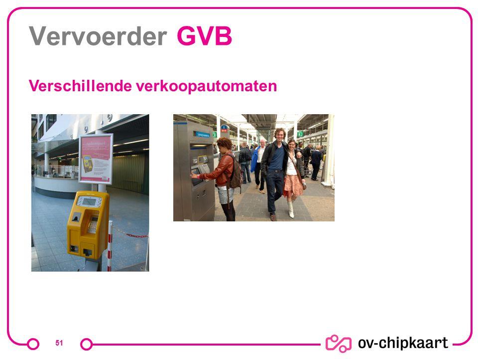 Vervoerder GVB Verschillende verkoopautomaten