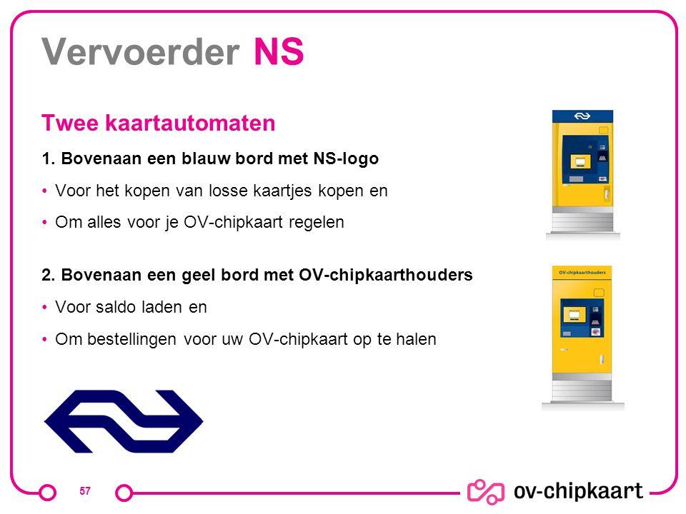 Vervoerder NS Twee kaartautomaten