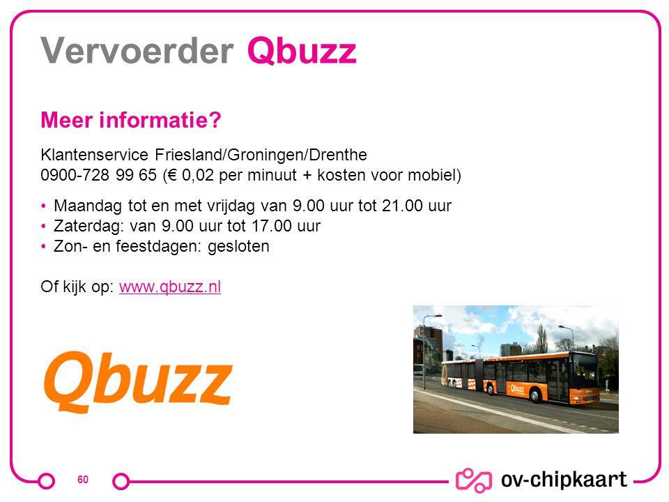 Vervoerder Qbuzz Meer informatie