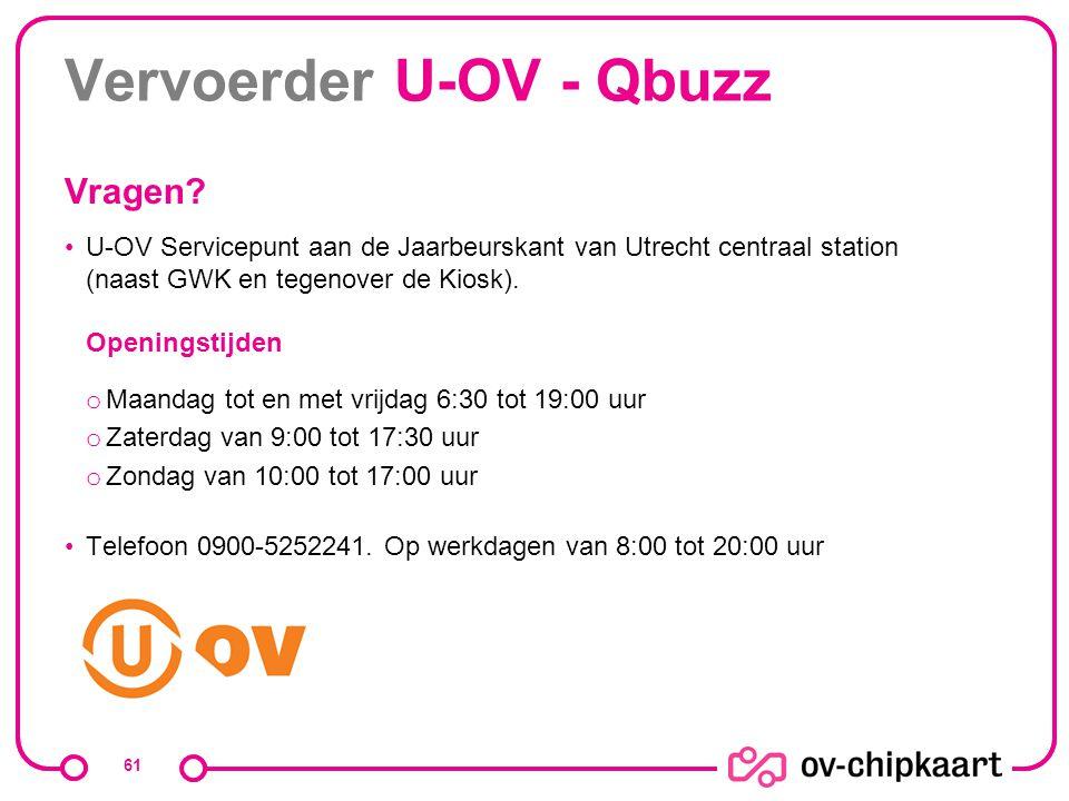 Vervoerder U-OV - Qbuzz