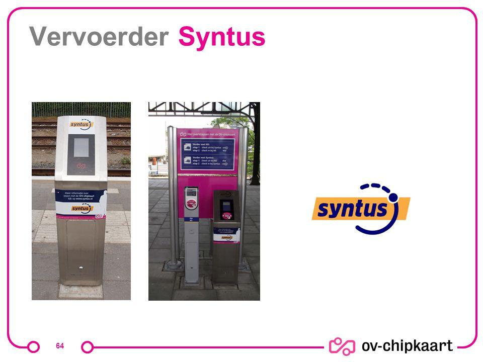Vervoerder Syntus Het webadres is eigenlijk www.nsinternational.nl