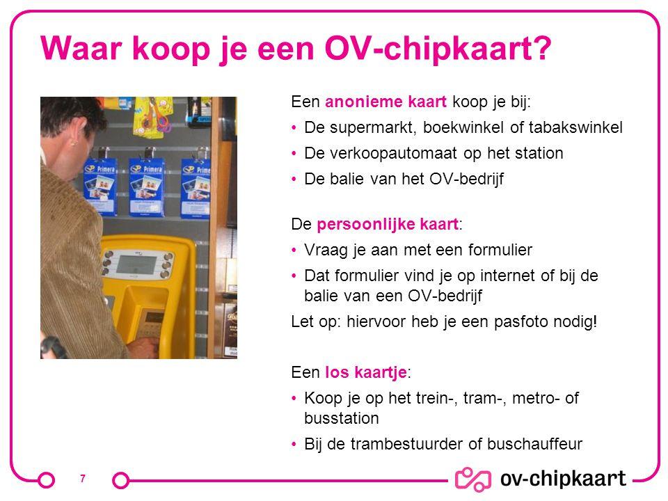 Waar koop je een OV-chipkaart